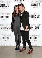 Louis Tomlinson and girlfriend Eleanor Calder arrives at the Unique show as part of London Fashion Week AW13, Tate Modern, London. 17/02/2013 Picture by: Henry Harris / Featureflash