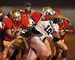 Lafayette High's John Chance (77) vs. Shannon in Oxford, Miss. on Friday, September 14, 2012. Lafayette won 44-25 over Shannon to improve to 4-1.