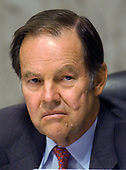 Washington, D.C. - March 24, 2004 -- Former New Jersey Governor Thomas H. Kean, Chairman, The National Commission on Terrorist Attacks Upon the United States (the 9-11 Commission), listens to testimony in Washington, D.C. on March 24, 2004.<br /> Credit: Ron Sachs / CNP<br /> [RESTRICTION: No New York Metro or other Newspapers within a 75 mile radius of New York City]