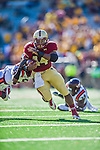 2 November 2013: Boston College Eagles running back Andre Williams (44) breaks a tackle for a 19 yard touchdown play in the first quarter against the Virginia Tech Hokies at Alumni Stadium in Chestnut Hill, MA. Mandatory Credit: Ed Wolfstein-USA TODAY Sports *** RAW (NEF) Image File Available ***