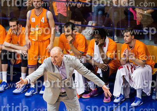Jaksa Vulic, head coach of Helios during 2nd Leg basketball match between KK Helios Suns and KK Zlatorog Lasko in Final of Nova KBM Champions League  2015/16, on May 31, 2016 in Hala Komunalnega centra, Domzale, Slovenia Photo by Vid Ponikvar / Sportida