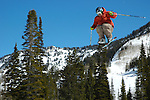 IDAHO. Bogus Basin. Boise. Skier Jumping. Freestyle Skiing. Big Air.