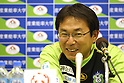 Yasuharu Sorimachi (Bellmare), MAY 8th, 2011 - Football : Shonan Bellmare head coach Yasuharu Sorimachi speaks during the press conference after the 2011 J.League Division 2 match between Shonan Bellmare 1-1 Ehime FC at Hiratsuka Stadium in Kanagawa, Japan. (Photo by Kenzaburo Matsuoka/AFLO)..