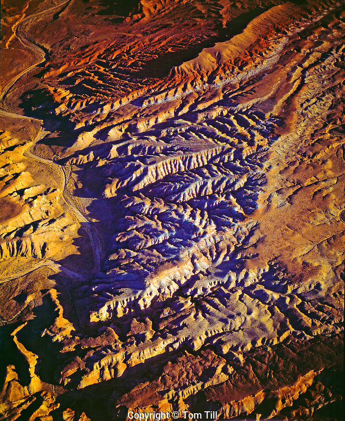 Aerial view of San Rafael Swell badlands, Utah    Proposed San Rafael Wilderness