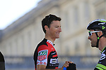 Martin Elmiger (SUI) BMC Racing Team at sign on for the 115th edition of the Paris-Roubaix 2017 race running 257km Compiegne to Roubaix, France. 9th April 2017.<br /> Picture: Eoin Clarke | Cyclefile<br /> <br /> <br /> All photos usage must carry mandatory copyright credit (&copy; Cyclefile | Eoin Clarke)