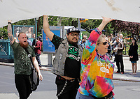 Union Square, New York, USA, May 06 2017 - Hundred of peoples participated on the annual NYC Cannabis Parade &amp; Rally in support of the legalization of the herb for recreational and medical use today in New York City. <br /> <br /> Photo: Luiz Rampelotto/EuropaNewswire | usage worldwide /MediaPunch ***FOR USA ONLY***