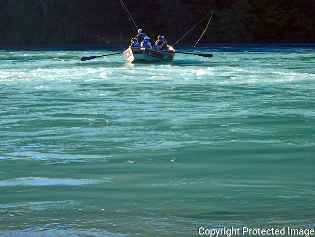 fishing from a dory on the Kenai River, Kenai, Alaska