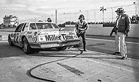 Bobby Allison, #22 Buick , pit stop, Atlanta Journal 500 at Atlanta International Raceway in Hampton, GA on November 6, 1983. (Photo by Brian Cleary/www.bcpix.com)  Atlanta Journal 500, Atlanta Motor Speedway, Hampton, Georgia, November 6, 1983.  (Photo by Brian Cleary/www.bcpix.com)  Bobby Allison makes a pit stop in the #22 Miller Buick en route to a third place finish, Atlanta Journal 500 at Atlanta International Raceway in Hampton, GA Bobby Allison makes a pit on November 6, 1983. (Photo by Brian Cleary/www.bcpix.com)