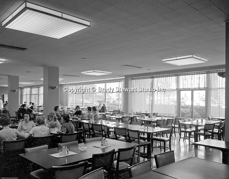 Pittsburgh PA:  View of the University of Pittsburgh's Nurses Retirement Home cafeteria in Oakland - 1958.  Ingham & Boyd started designing fine residences throughout Western Pennsylvania, especially in Edgeworth and Sewickley (1911).  They evolved into designing and building public sector and educational institutions.  Ingham & Boyd evolved into Ingram, Boyd & Pratt when Ingham's son, Charles S. Ingham, and Thomas C. Pratt joined the partnership. The successor firm is IKM, Inc.