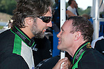 Tim Papas congratulates Damien Faulkner