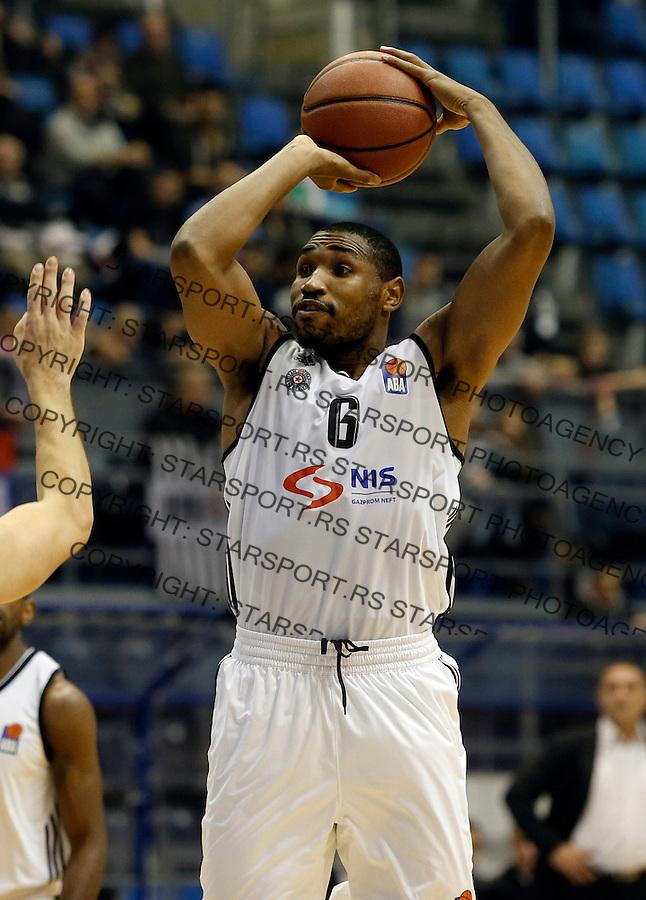 Kevin Andrew Jones Aba regionalna liga Partizan - Igokea 27.12.1015. December 27. 2015. (credit image & photo: Pedja Milosavljevic / STARSPORT)