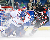 Marc Boulanger (Lowell - 1), Brodie Reid (Northeastern - 15) - The visiting Northeastern University Huskies defeated the University of Massachusetts-Lowell River Hawks 3-2 with 14 seconds remaining in overtime on Friday, February 11, 2011, at Tsongas Arena in Lowelll, Massachusetts.