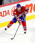 10 February 2010: Montreal Canadiens' right wing forward Matt D'Agostini in action against the Washington Capitals at the Bell Centre in Montreal, Quebec, Canada. The Canadiens defeated the Capitals 6-5 in sudden death overtime, ending Washington's team-record winning streak at 14 games. Mandatory Credit: Ed Wolfstein Photo