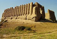 Ancient Fortress Castle of Great Kyz-kala at Merv listed by UNESCO as a World Heritage Site on the Silk Road in Central Asia