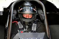 Jun 5, 2015; Englishtown, NJ, USA; NHRA funny car driver Terry Haddock during qualifying for the Summernationals at Old Bridge Township Raceway Park. Mandatory Credit: Mark J. Rebilas-