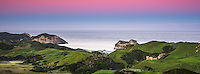 Pastel colours of twilight over Wharariki Beach near Collingwood, Nelson Region, South Island, New Zealand