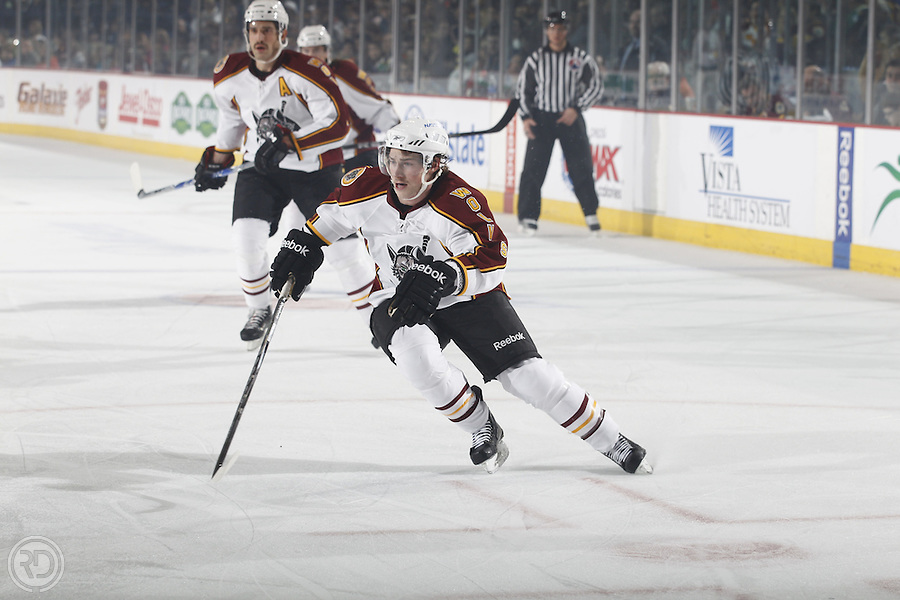 Chicago Wolves 2011-12 Season.Photograph by Ross Dettman..#9 Nathan Longpre