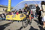 Adrien Petit (FRA) Direct Energie at sign on for the 115th edition of the Paris-Roubaix 2017 race running 257km Compiegne to Roubaix, France. 9th April 2017.<br /> Picture: Eoin Clarke | Cyclefile<br /> <br /> <br /> All photos usage must carry mandatory copyright credit (&copy; Cyclefile | Eoin Clarke)