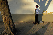 A Colombian musician, holding a trumpet, stands by the wall during the Carnival in Barranquilla, Colombia, 27 February 2006. The Carnival of Barranquilla is a unique festivity which takes place every year during February or March on the Caribbean coast of Colombia. A colourful mixture of the ancient African tribal dances and the Spanish music influence - cumbia, porro, mapale, puya, congo among others - hit for five days nearly all central streets of Barranquilla. Those traditions kept for centuries by Black African slaves have had the great impact on Colombian culture and Colombian society. In November 2003 the Carnival of Barranquilla was proclaimed as the Masterpiece of the Oral and Intangible Heritage of Humanity by UNESCO.