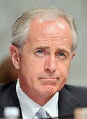 Washington, DC - April 8, 2008 -- United States Senator Bob Corker (Republican of Tennessee) listens as General David Petraeus and Ambassador Ryan Crocker testify before the United States Senate Foreign Relations Committee on the situation and progress in Iraq in Washington, D.C. on Tuesday, April 8, 2008..Credit: Ron Sachs / CNP