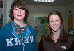 MORRIS, CT- 05 JANUARY 2008 --010509JS06-Teen Advisory Council members Sam Shurberg and Hannah LaBonne during their meeting Monday at the Morris Public Library.  <br /> Jim Shannon / Republican-American