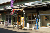 Art gallery on Railspur Alley, Granville Island, Vancouver, British Columbia, Canada
