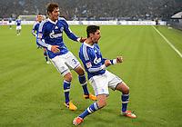 FUSSBALL   1. BUNDESLIGA   SAISON 2012/2013    18. SPIELTAG FC Schalke 04 - Hannover 96                           18.01.2013 Jubel nach dem 4:2: Ciprian Marica und Roman Neustaedter (v.r., beide FC Schalke 04)