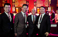 Dreamworks Animation president Jeffrey Katzenberg with chinese officials and economic partners in Beijing, June 25 2013.