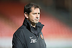 Dundee United v St Johnstone...12.03.14    SPFL<br /> Jackie McNamara looks on<br /> Picture by Graeme Hart.<br /> Copyright Perthshire Picture Agency<br /> Tel: 01738 623350  Mobile: 07990 594431
