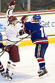 Teddy Doherty (BC - 4), Ryan McGrath (UML - 10) - The Boston College Eagles defeated the visiting University of Massachusetts Lowell River Hawks 6-3 on Sunday, October 28, 2012, at Kelley Rink in Conte Forum in Chestnut Hill, Massachusetts.
