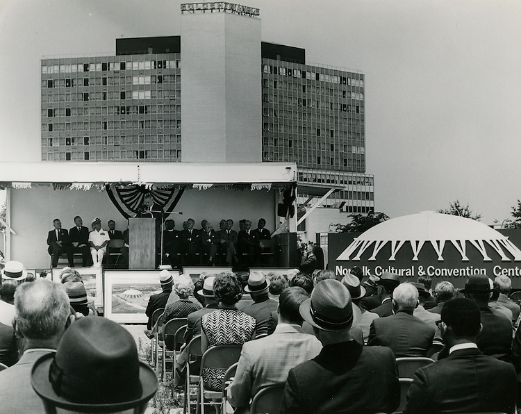 1968 June 06..Redevelopment...Downtown North (R-8)..Scope Cultural and Convention Center Groundbreaking Ceremony..Sam McKay.NEG# SLM68-44-18..