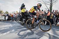 Philippe Gilbert (BEL/Quick Step floors) solo tops the Kruisberg <br /> <br /> 101th Ronde Van Vlaanderen 2017 (1.UWT)<br /> 1day race: Antwerp &rsaquo; Oudenaarde - BEL (260km)