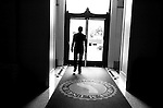 Treasurer Phil Angelides, leaves the building for an appointment, Thursday Dec. 14, 2006, days before Phil leaving office..Sacramento Bee/  Brian Baer