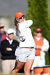 17 April 2016: Virginia Tech's Amanda Hollandsworth. The Second Round of the Atlantic Coast Conference's Women's Golf Championship was held at Sedgefield Country Club in Greensboro, North Carolina.