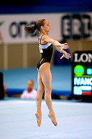 Nadezhda Ivanova of Russia  performs on floor exercise in junior women's team final competition at 2006 European Championships Artistic Gymnastics at Volos, Greece on April 28, 2006.  (Photo by Tom Theobald)<br />