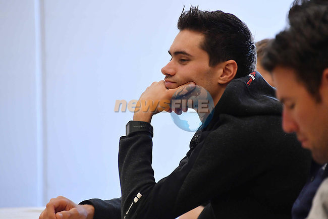 Tom Dumoulin (NED) Team Sunweb at the top riders press conference on the eve of the race of the two seas, 52nd Tirreno-Adriatico by NamedSport running from the 8th to 14th March, Italy. 7th March 2017.<br /> Picture: La Presse/Gian Mattia D'Alberto | Cyclefile<br /> <br /> <br /> All photos usage must carry mandatory copyright credit (&copy; Cyclefile | La Presse)