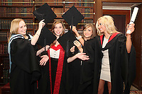 NO REPRO FEE. 25/11/2011. Independent College Dublin graduations. Pictured after graduating from Independent College Dublin are L-R  Aisling Hearns from Wicklow, Orlaith Magee from Malahide, LLM, MA Psychotherapy, Kerri Ann Warren from Malahide MA Dispute Resolution and Claire Graydon LLB . For more info please contact Annie Leger annie.leger@independentcolleges.ie.T: +353 1 635 5811.Picture James Horan/Collins