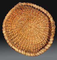The oldest basket yet found in the Americas, about 9000 years old, probably used to gather and process small seeds, made in central Utah, from the collection of the Utah Museum of Natural History, at the Anasazi Heritage Center, Dolores, Colorado, USA. Picture by Manuel Cohen