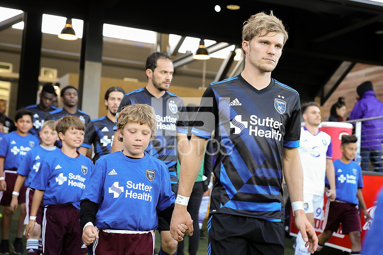 San Jose, CA - Wednesday May 17, 2017: Florian Jungwirth prior to a Major League Soccer (MLS) match between the San Jose Earthquakes and Orlando City SC at Avaya Stadium.