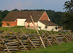 Red brick barn with split rail fence Gettysburg Pennsylvania,  barn, barn yard, split rail fence, July 1-3 1863, Gettysburg Campaign, American Civil War, North, South, Robert E, Lee,  Confederate, Union army, President Abraham Lincoln, Little Round Top, Commonwealth of Pennsylvania, Northeasterners, Middle Atlantic region,1802, Thirteen Colonies, Declaration of Independence, State of Independence, Liberty, Quaker Province, Founding Fathers, 1774, Constitution written,Commonwealth of Pennsylvania, Northeasterners, Middle Atlantic region, Philadelphia, Keystone State, 1802, Thirteen Colonies, Declaration of Independence, State of Independence, Liberty, Conestoga wagons, Quaker Province, Founding Fathers, Fine art Photography and Stock Photography by Ronald T. Bennett Photography ©, Fine Art Photography by Ron Bennett, Fine Art, Fine Art photography, Art Photography, Copyright RonBennettPhotography.com © Fine Art Photography by Ron Bennett, Fine Art, Fine Art photography, Art Photography, Copyright RonBennettPhotography.com ©