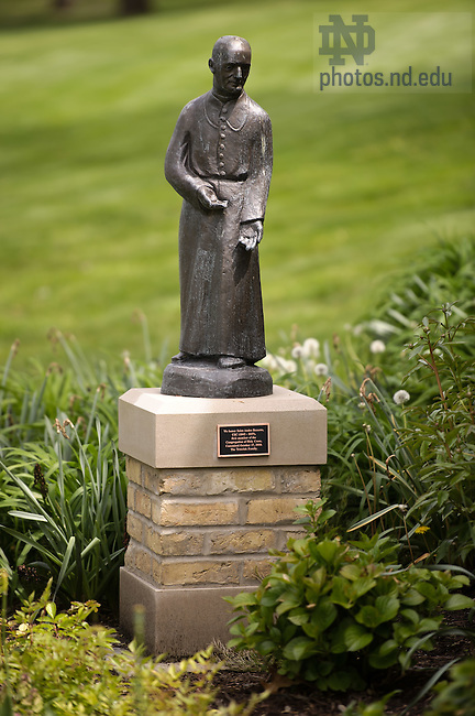 May 2, 2012; Statue of Saint Andre Bessette outside Old College..Photo by Matt Cashore/University of Notre Dame