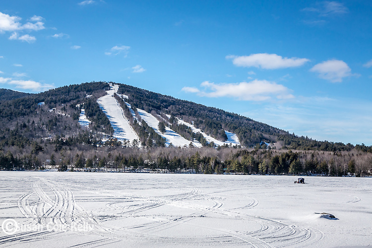 Shawnee Peak ski area in Bridgton, Maine, USA