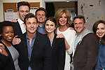 Quincy Tyler Bernstine, Erich Bergen, Hugh Dancy, Jonathan Groff, Keri Russell, Christine Lahti, Raul Esparza and Zoe Kazan backstage at the Indigo Theatre Project's Benefit Reading of  'An America Daughter'  at The Tony Kiser Theater on May 8, 2017 in New York City.