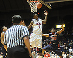 Ole Miss' Terrance Henry (1) is fouled by  Auburn's Frankie Sullivan (20) in Oxford, Miss. on Wednesday, February 24, 2010. Ole Miss won 85-75.