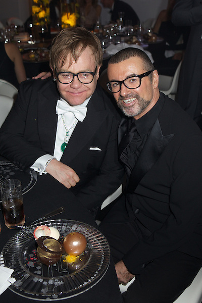 Elton John and George Michael at The White Tie and Tiara Ball