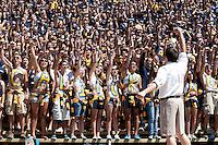 Cal Fans. The University of California Berkeley Golden Bears defeated the UC Davis Aggies 52-3 in their home opener at Memorial Stadium in Berkeley, California on September 4th, 2010.