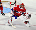 22 March 2010: Montreal Canadiens' goaltender Jaroslav Halak makes a first period save against the Ottawa Senators at the Bell Centre in Montreal, Quebec, Canada. The Senators shut out the Canadiens 2-0 in their last meeting of the regular season. Mandatory Credit: Ed Wolfstein Photo