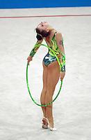 Oct 01, 2000; SYDNEY, AUSTRALIA:<br /> Yulia Raskina (BLR) performs hoop during rhythmic gymnastics final at 2000 Summer Olympics. Yulia took silver medal.