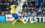 Hearts v St Johnstone...05.02.12.. Scottish Cup 5th Round.Cillian Sheridan scores to make it 1-1.Picture by Graeme Hart..Copyright Perthshire Picture Agency.Tel: 01738 623350  Mobile: 07990 594431