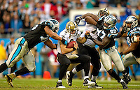 Sports action photography of the Carolina Panthers against the NEw Orleans Saints during their NFL game at Bank of America Stadium in Charlotte, North Carolina.  <br /> Charlotte Photographer - Patrick SchneiderPhoto.com